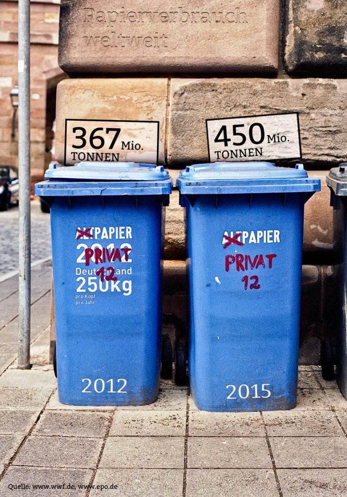 Papierverbrauch Weltweit Inforgrafik, Informationsdesign, jos- büro, johannes breidenbach, würzburg