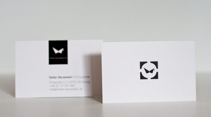Visitenkarten Bausewein Design Fotografie Würzburg