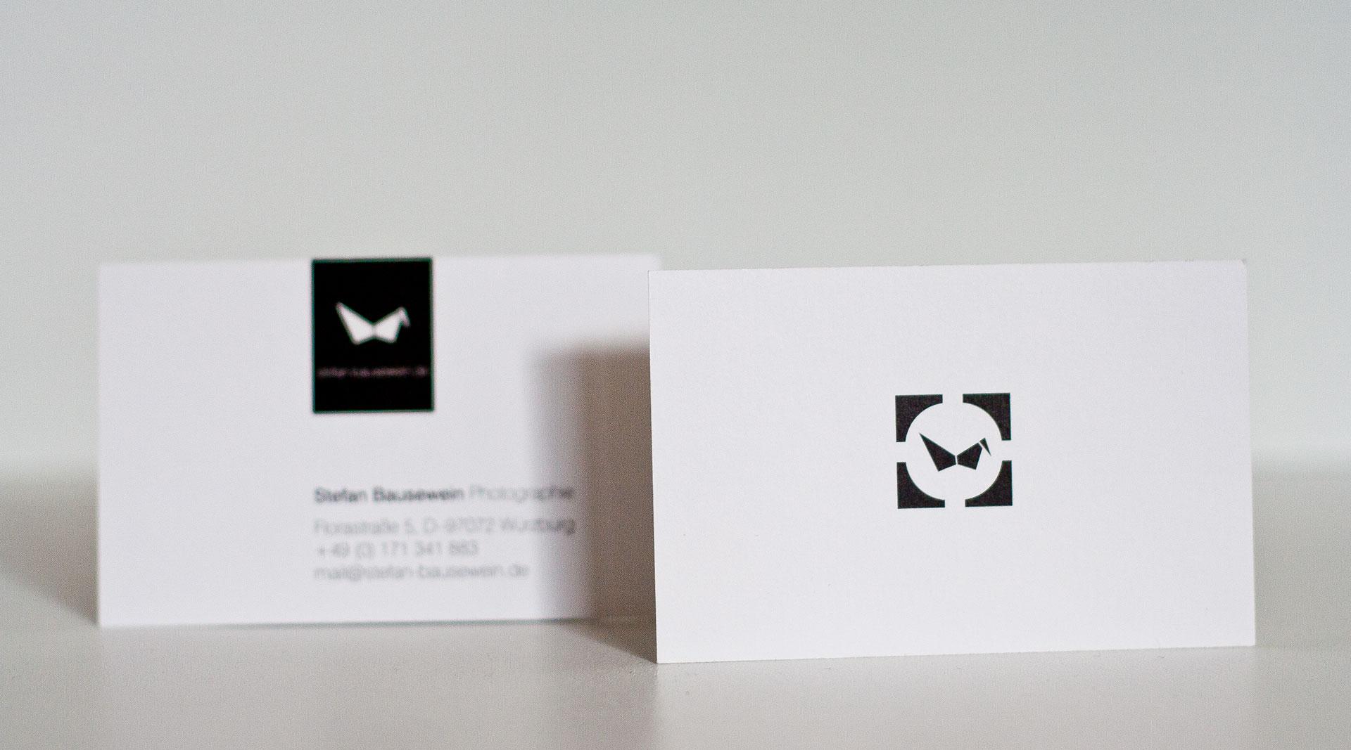 Visitenkarten Mit Dem Vogel Jo S Büro Für Gestaltung