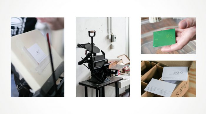Visitenkarten Letterpress jo's büroWürzburg