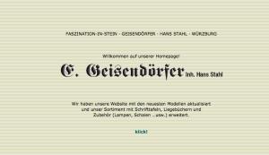 Geisendörfer Webdesign Steinmetz Würzburg
