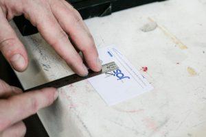 jo's bür Letterpress Visitenkarten Würzburg