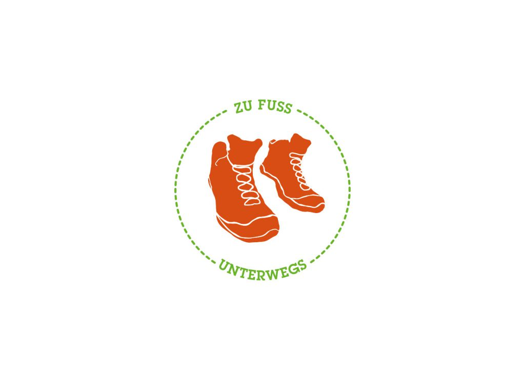 Zu Fuß unterwegs Corporate Design Logodesign Würzburg
