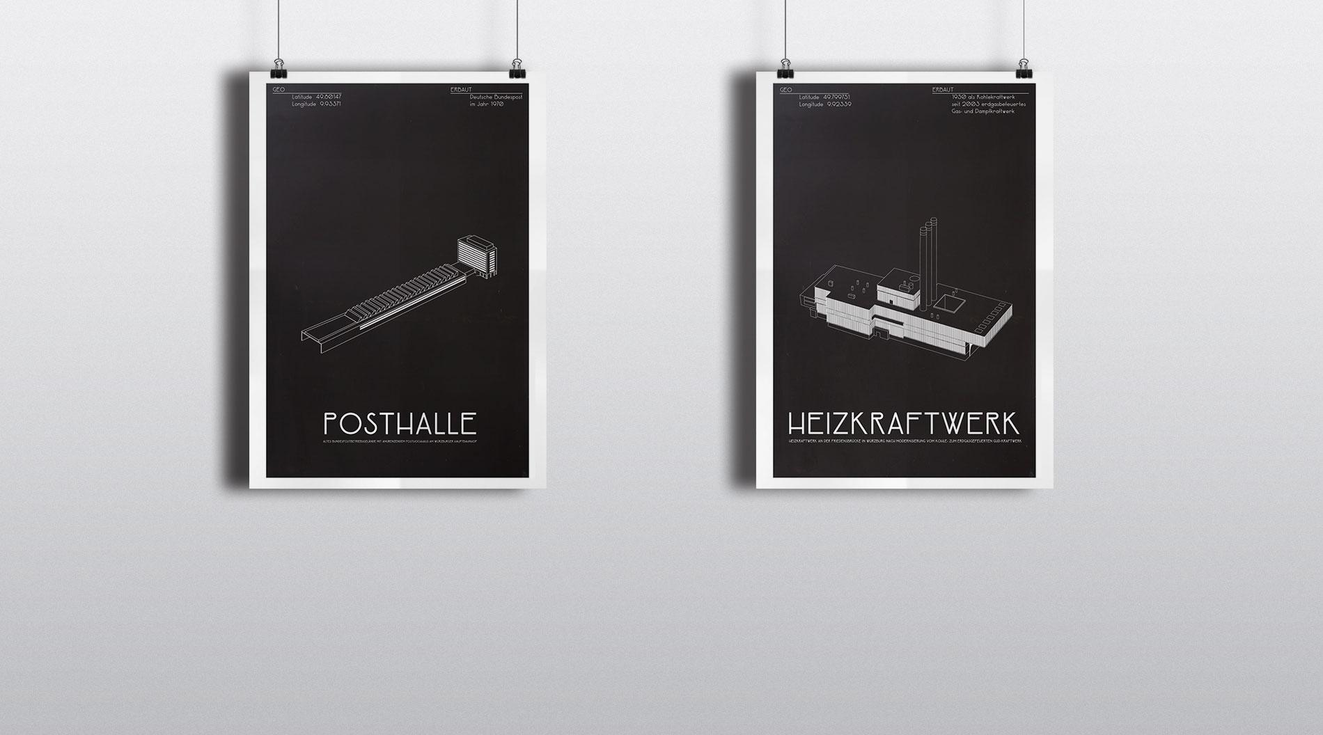Würzburg Industria Plakatserie Design Würzburg