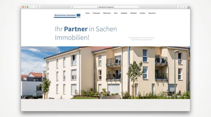 Spannheimer Hausbau Webdesign Würzburg