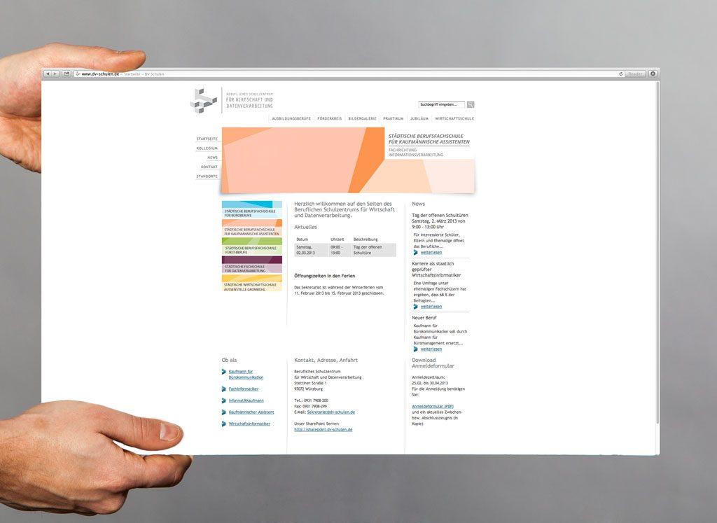 Berufliches Schulzentrum Webdesign Würzburg