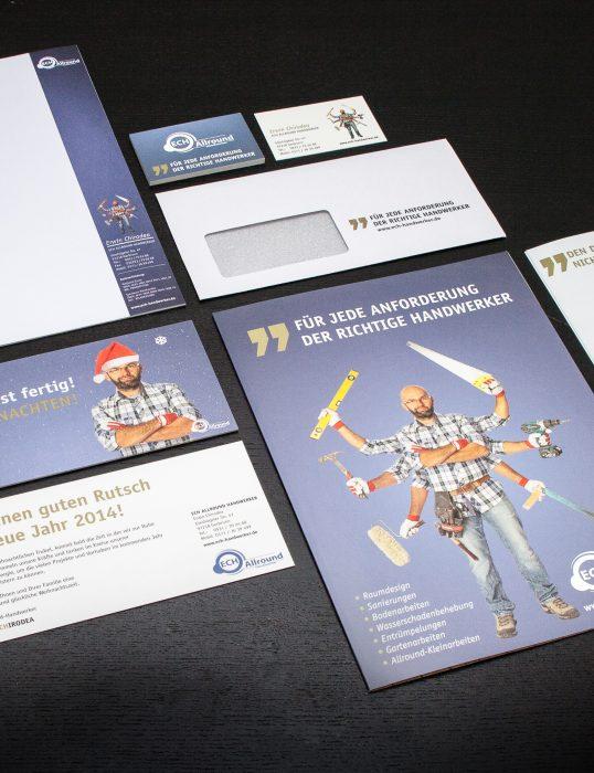 ECH Handwerker Corporate Design jos büro für Gestaltung Würzburg