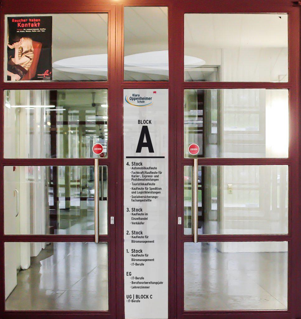 Leitsystem klara oppenheimer schule jo 39 s b ro f r for Produktdesign schule