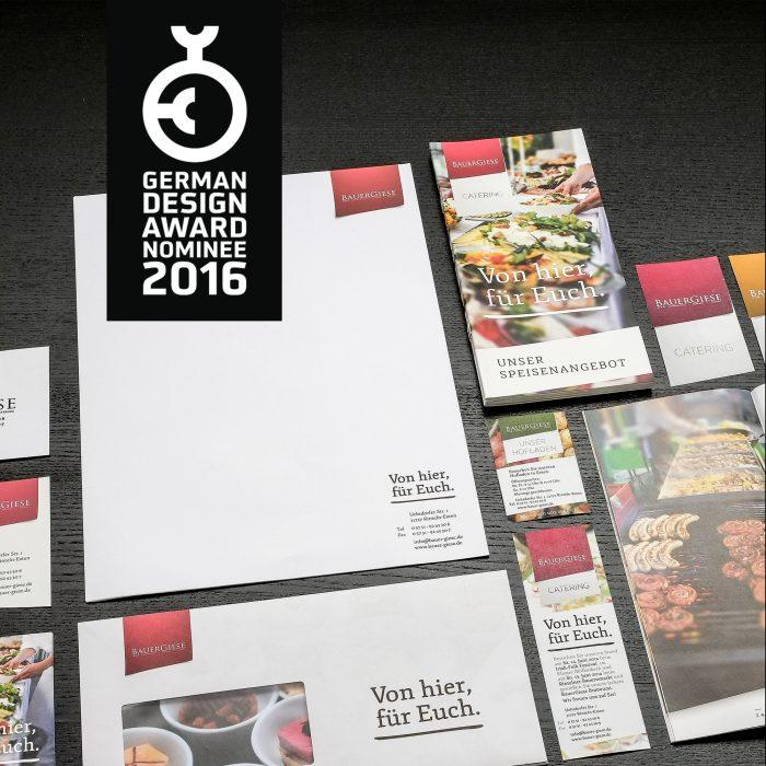 BauerGiese Corporate Design Identity Mockup jos büro für Gestaltung Würzburg German Design Award 2016