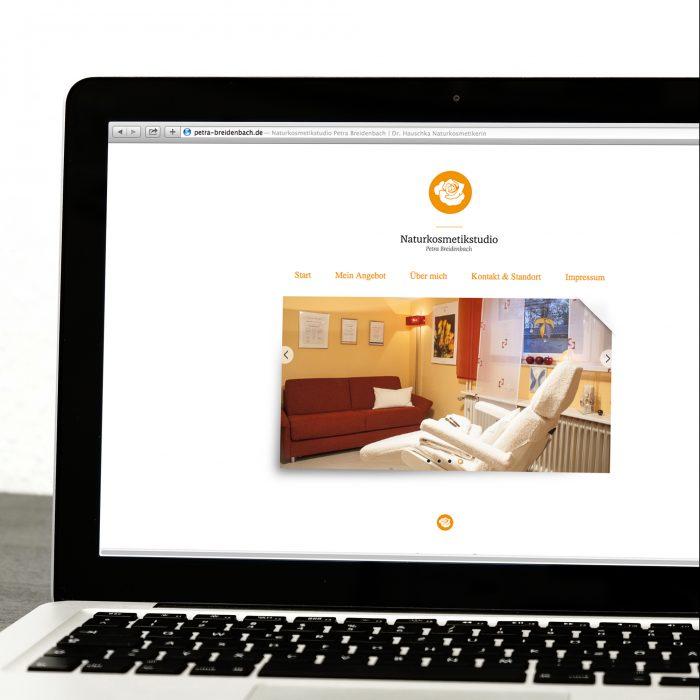 Naturkosmetikstudio Petra Breidenbach Webdesign Mockup jos büro für Gestaltung Würzburg