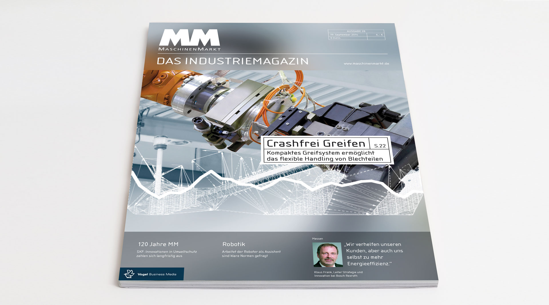 Coverdesign Magazingestaltung Editorial MaschinenMarkt