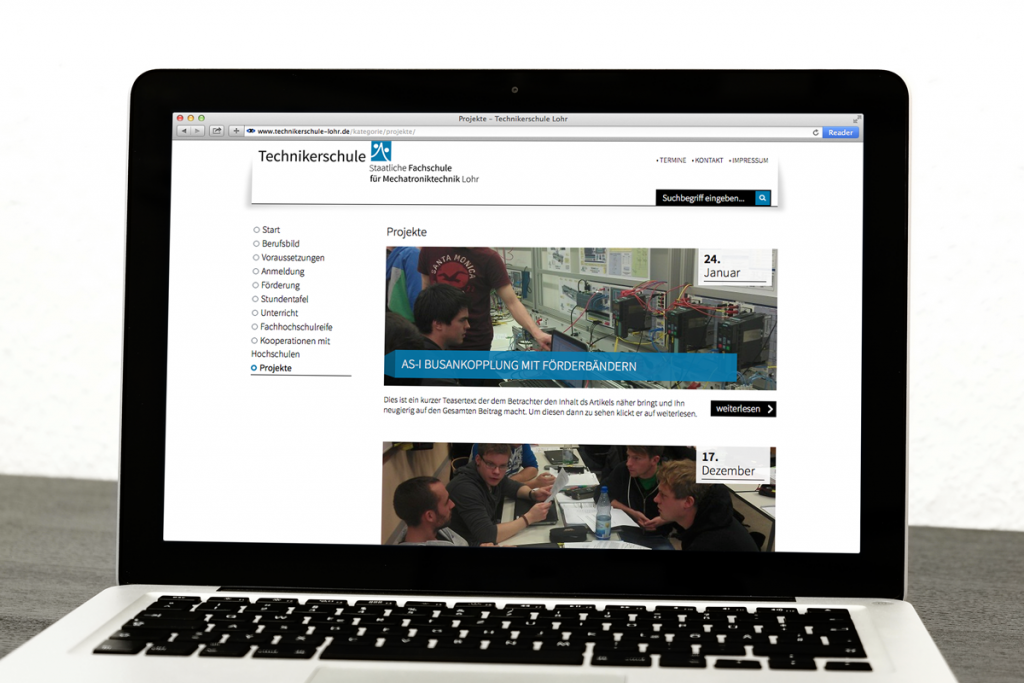 Technikerschule Lohr Webdesign Würzburg