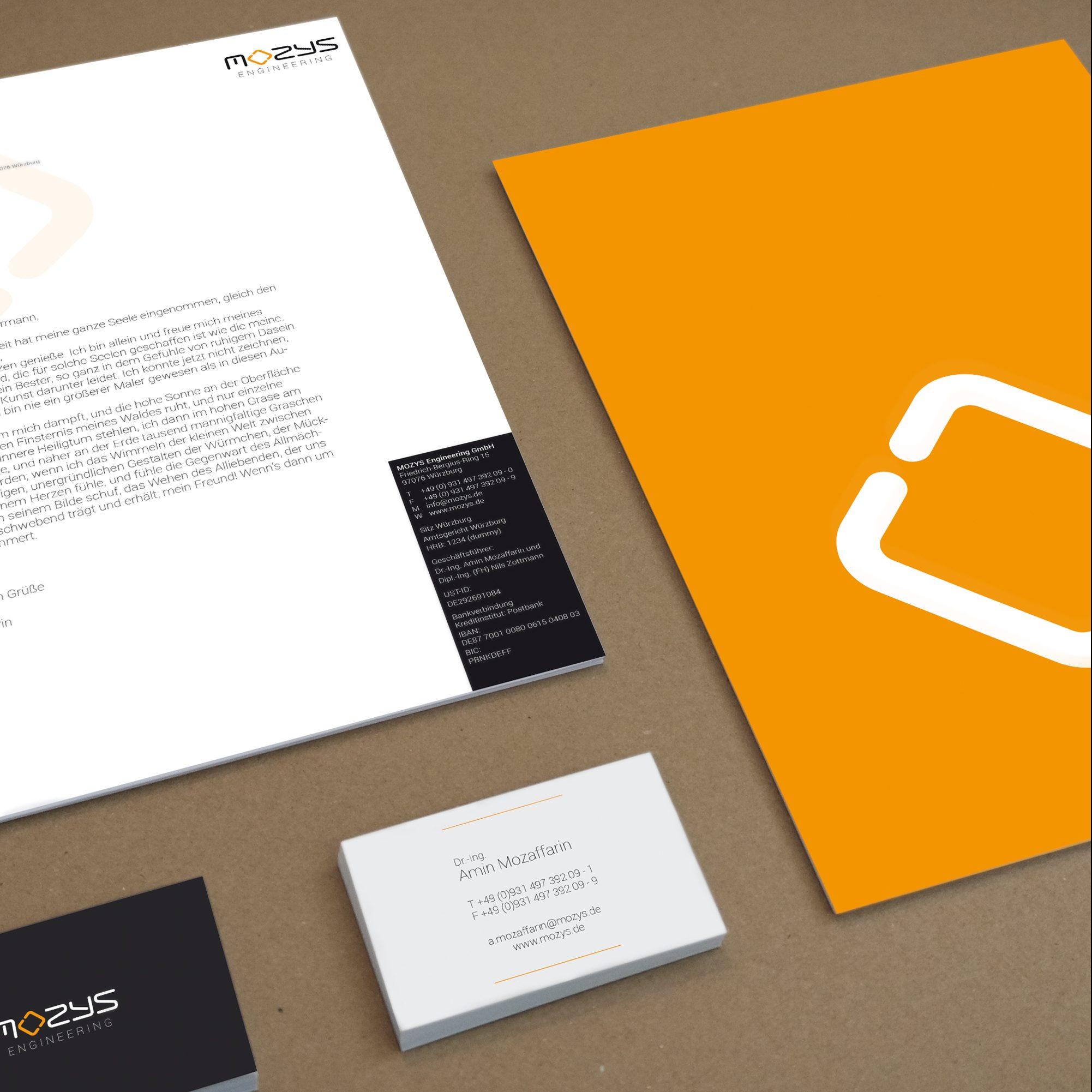 MOZYS Corporate Design Geschäftsausstattung Markenkreation jos büro für Gestaltung Würzburg