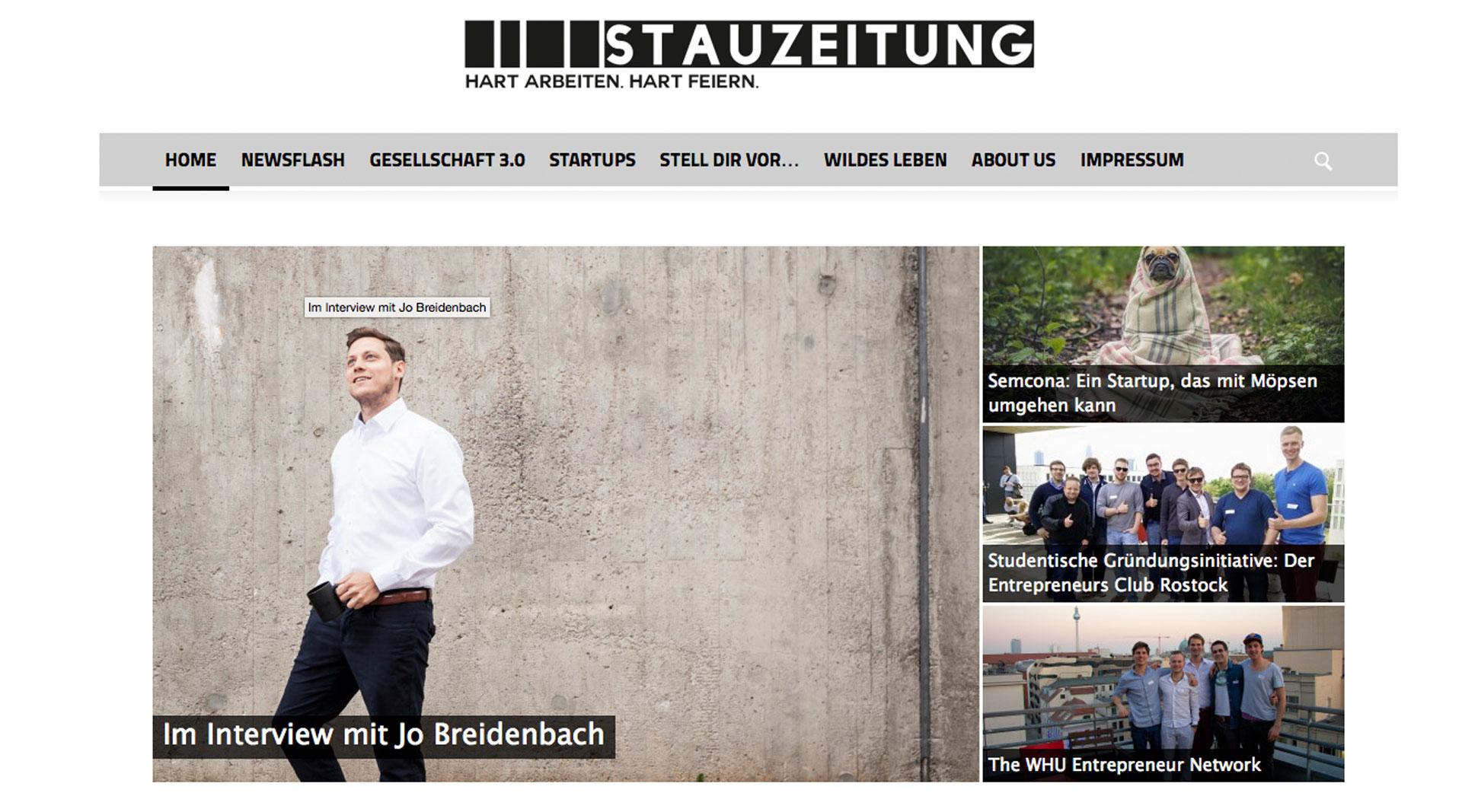 Johannes Breidenbach im Interview mit stauzeitung.de
