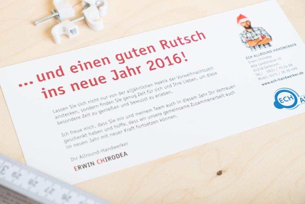 ECH Weihnachtskarte Würzburg