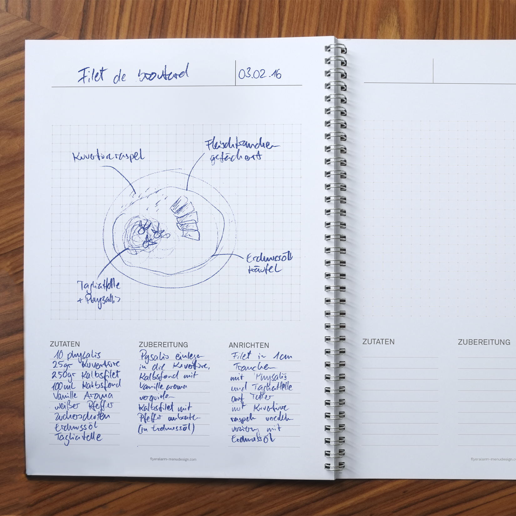 Flyeralarm Menu Design Notebook