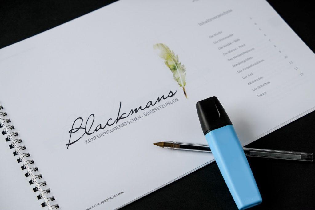 Blackmans Logodesign Geschäftsausstattung Würzburg