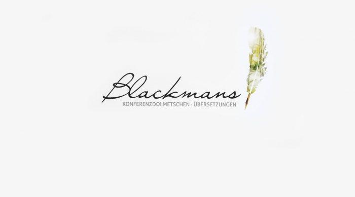 Logodesign Blackmans Dolmetscherservice Würzburg