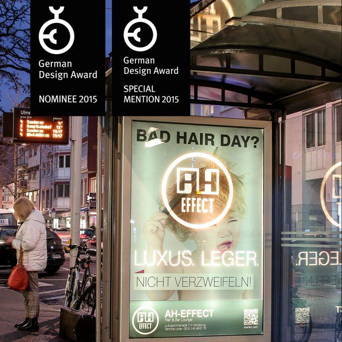 AH-Effect CityLight Kampagne German Design Award Special 2015 jos büro für Gestaltung Würzburg
