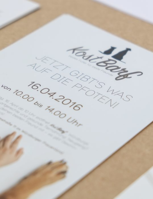 Kostbarf Flyer Corporate Identity Markenkreation