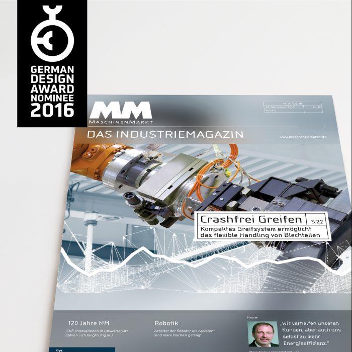 MaschinenMarkt Magazin ReDesign German Design Award 2016 jos büro für Gestaltung Würzburg