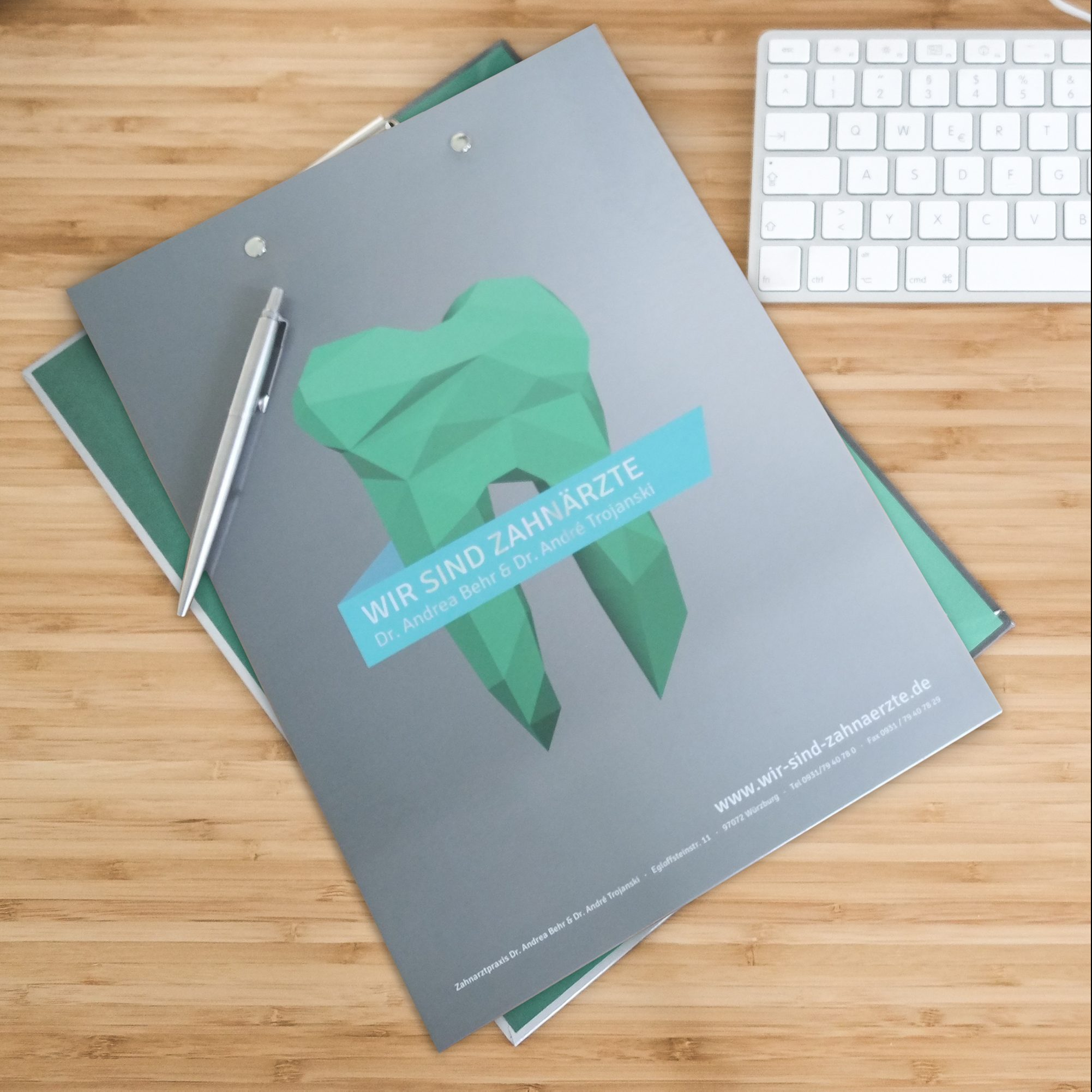 Trojanski Zahnärzte Corporate Design Markenkreation jos büro für Gestaltung Würzburg