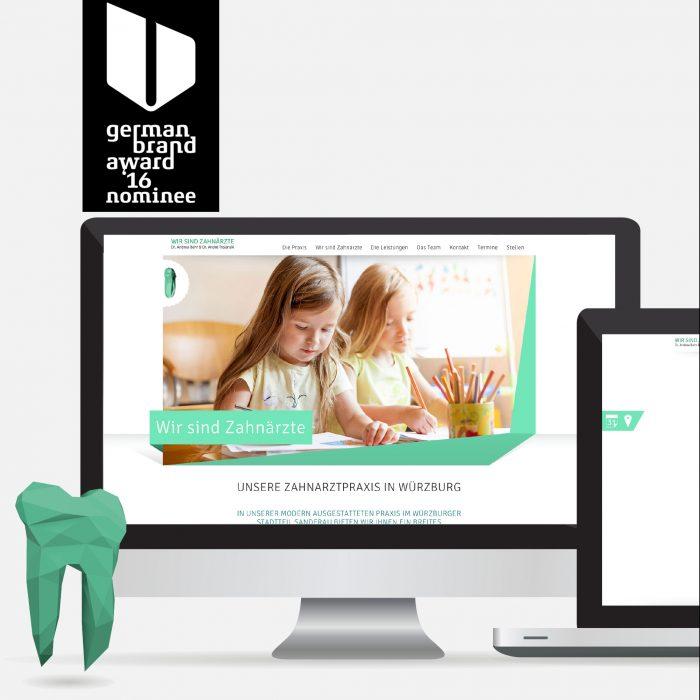 Wir sind Zahnärzte Trojanski Webdesign Corporate Design German Brand Award Nominee 2016 jos büro für Gestaltung Würzburg