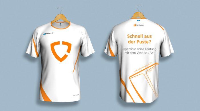 Laufshirts Gestaltung CareFusion Design Würzburg
