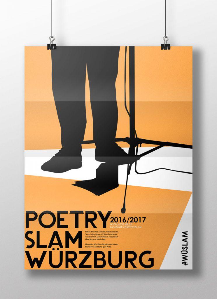 Poetry Slam Grafikdesign Würzburg
