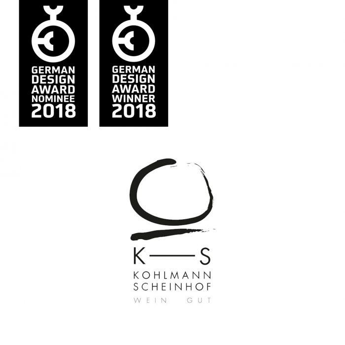 Weingut Kohlmann-Scheinhof Logo Brand German Design Award Winner 2018 jos büro für Gestaltung Würzburg