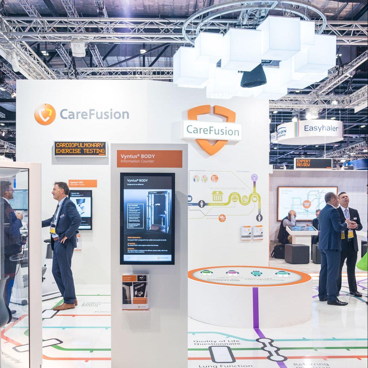 CareFusion Messestand London Würzburg jos büro für Gestaltung