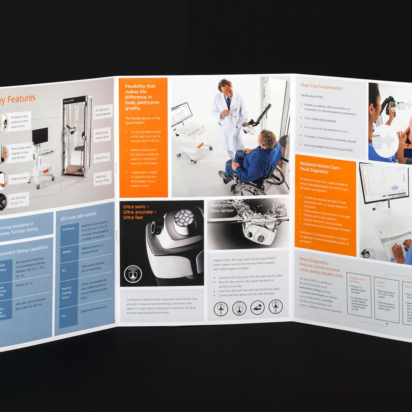 CareFusion Flyer Print Design jos büro für Gestaltung Designbüro Würzburg