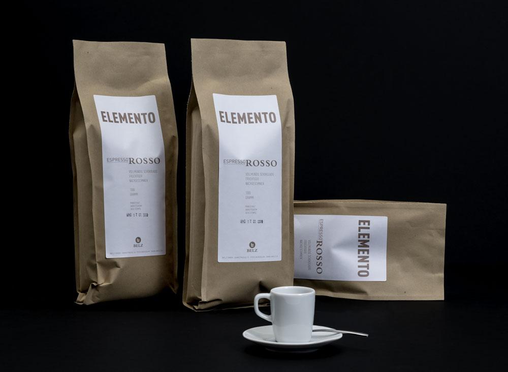 Kaffee Packaging BELZ Würzburg Elemento