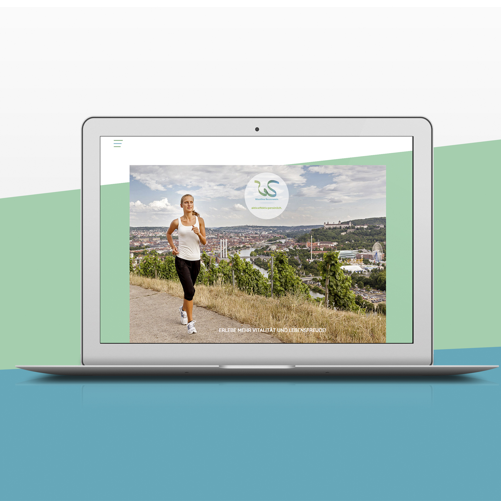 Wassilina Bausenwein Webdesign Mockup Laptop jos büro für Gestaltung Designbüro Würzburg