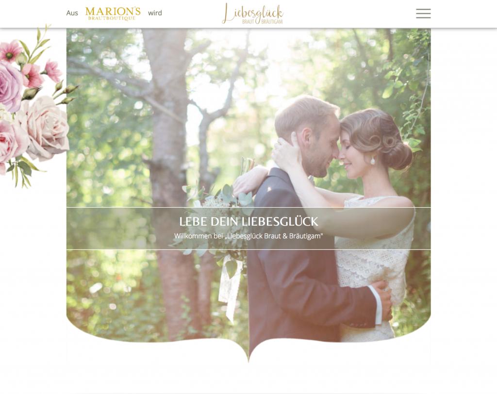 Slideshow Webdesign Brautmode