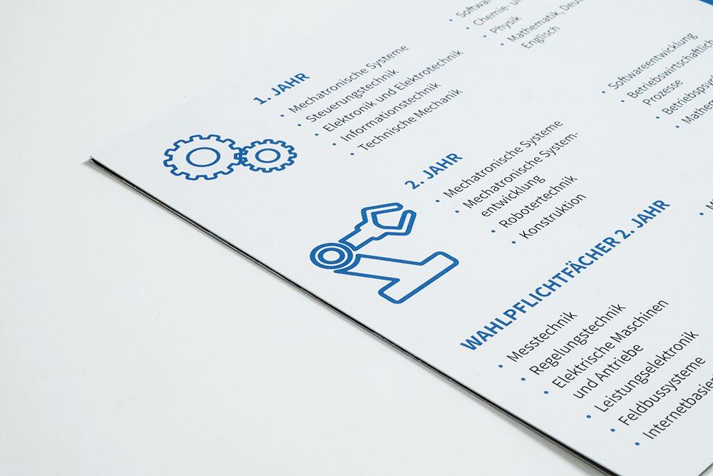 Piktogramme Flyer Design Gestaltung