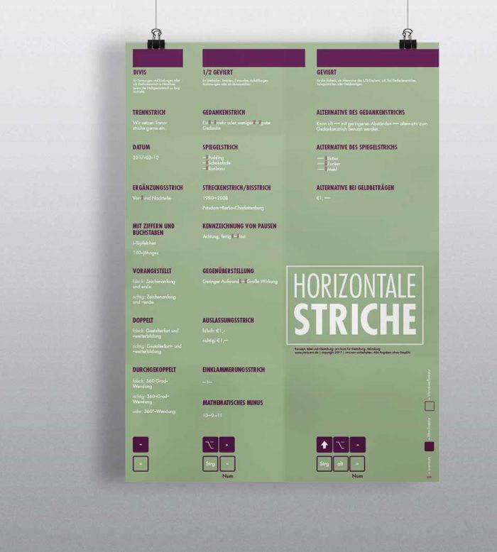Detailtypografie Poster Horizontale Striche