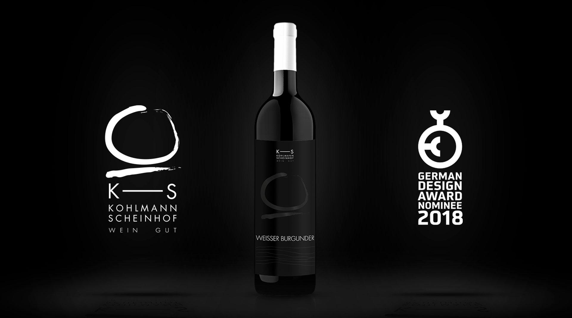 German Design Award 2018 Weingut Weinflaschen Würzburg