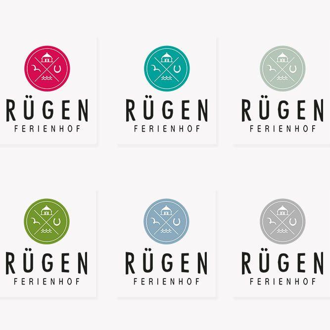 Logovariationen Rügen Ferienhof Corporate Design jos büro für Gestaltung Würzburg