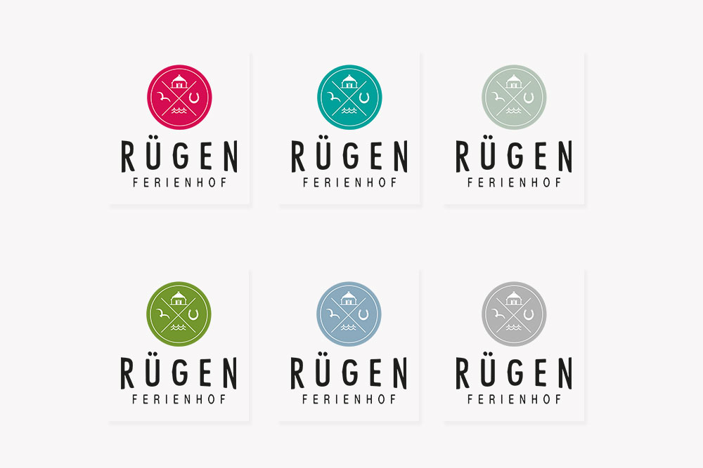 Logovariationen Rügen Ferienhof
