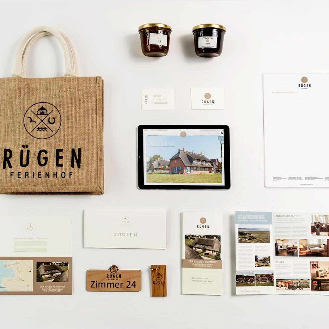 Rügen Ferienhof Corporate Design jos büro für Gestaltung Würzburg