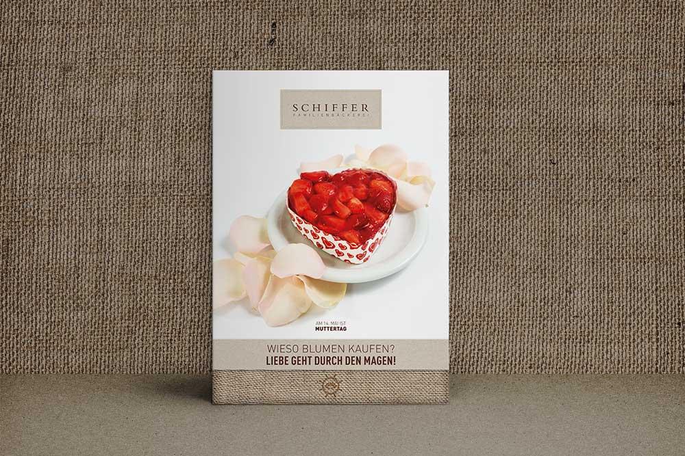 Plakat Bäckerei Schiffer Muttertag