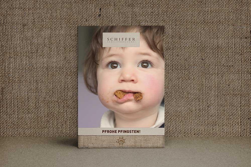 Plakat Bäckerei Schiffer Pfingsten
