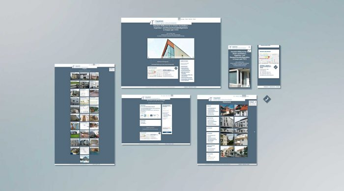 Webdesign Trawny Baugutachten Relaunch Screendesign