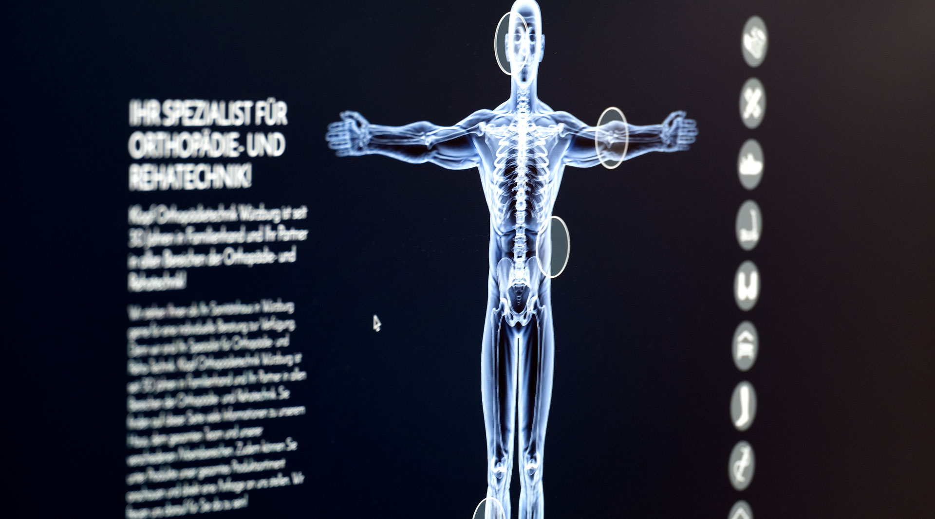 Klopf Orthopädie Würzburg Webdesign jos büro für Gestaltung Screendesign