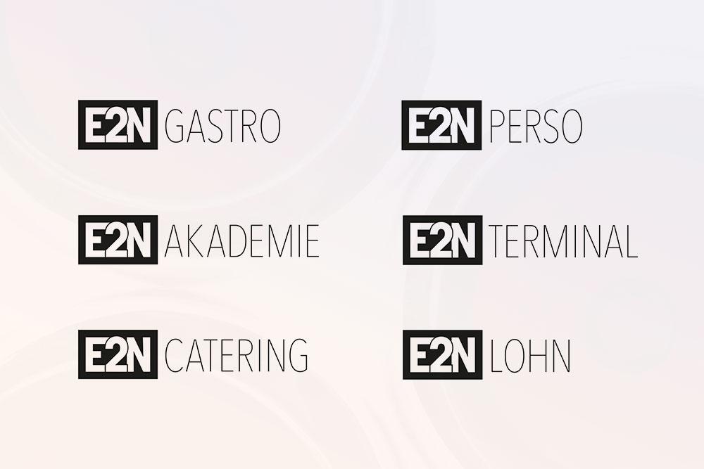 Logovarianten E2N Würzburg Gestaltung