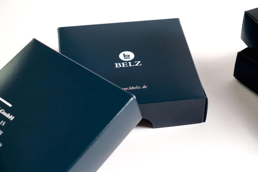 Belz GmbH Würzburg Messe Geschenk Give-Away Untersetzer Packaging