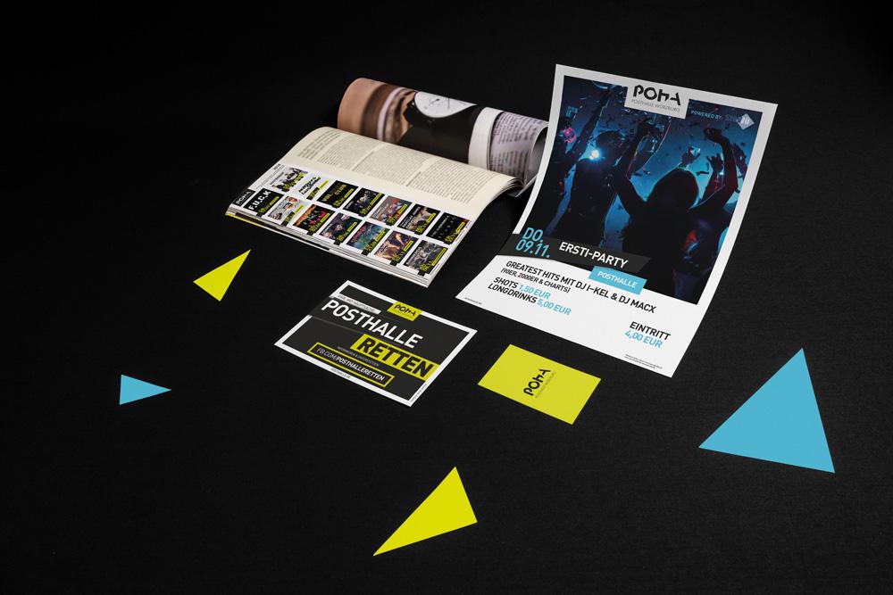 Markenkreation Posthalle Geschäftsausstattung Kommunikationsmittel Plakate Flyer Webdesign Corporate Design jo's büro für Gestaltung