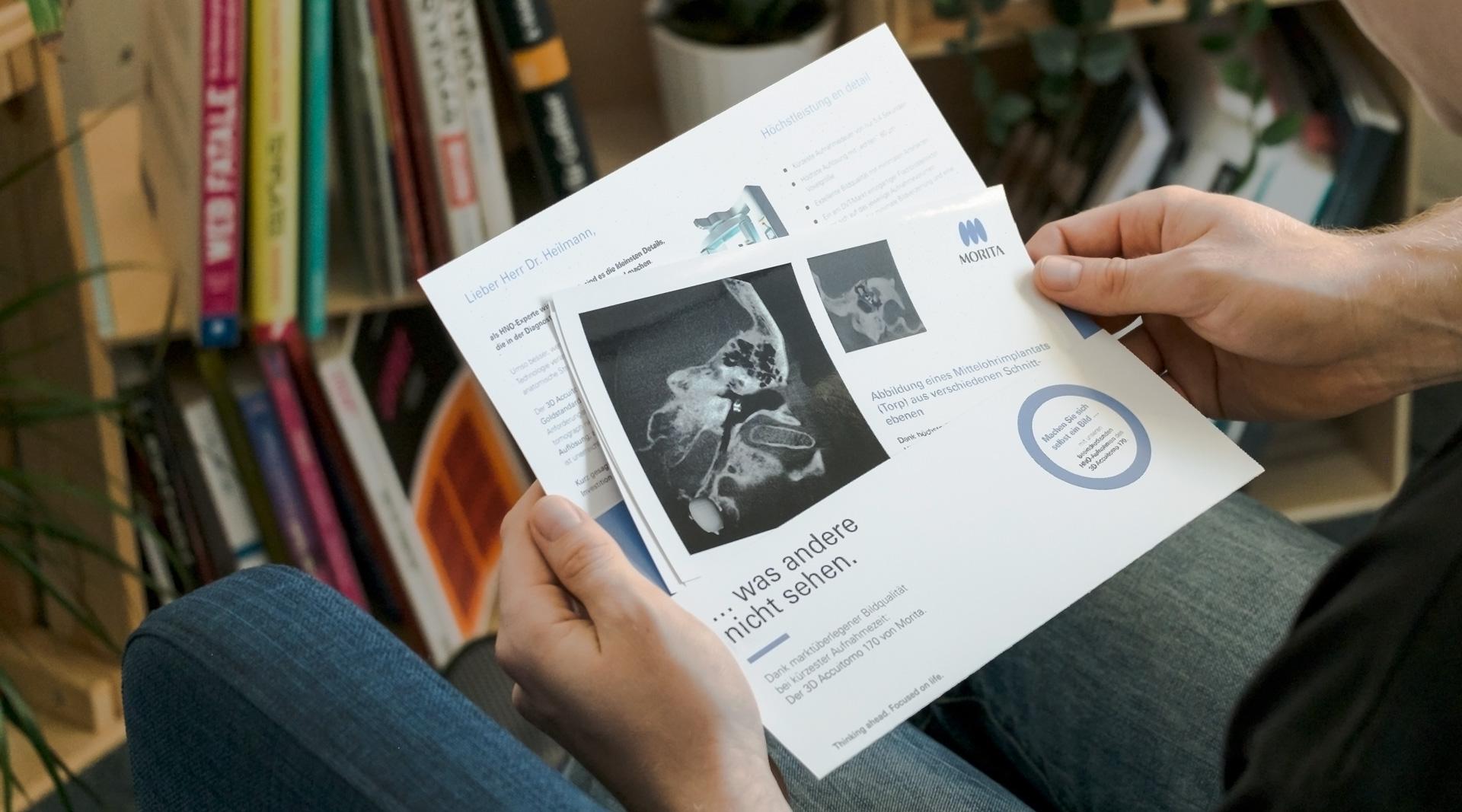 Mailing Morita jos's büro für Gestaltung Print Design Würzburg