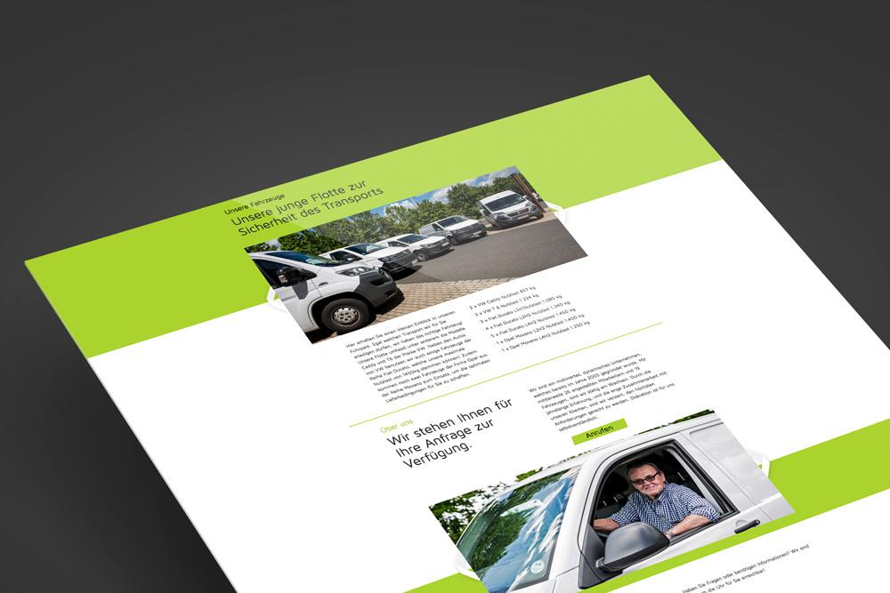 KX Transporte Fahrzeuge Webdesign Würzburg jos büro für Gestaltung Screendesign